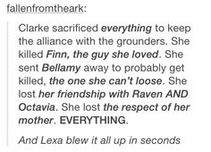 This is why I've never fully shipped Clexa