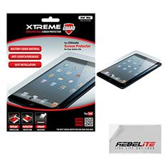 Rebelite Indestructible Screen Protector for iPad Mini with Military Grade Shock, Scratch, & Break Resistant Material