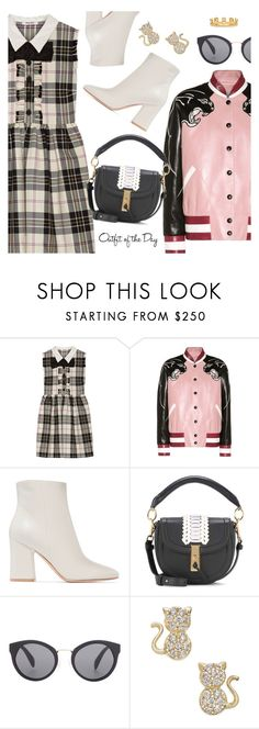 """""""Outfit of the Day"""" by dressedbyrose ❤ liked on Polyvore featuring Miu Miu, Valentino, Gianvito Rossi, Altuzarra, Prada, Kasané, Petit Bateau, ootd and polyvoreeditorial"""