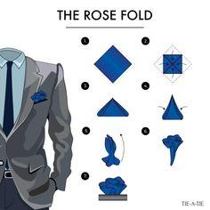 The rose handkerchief fold