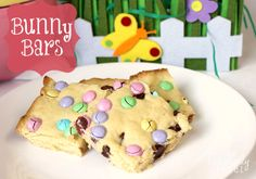 These are perhaps the easiest cookie bars ever made!  This recipe for Bunny Bars is not only a fun and easy treat for Easter, but you only need 5 ingredients to make them!