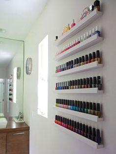 Vernis ongles sur pinterest ongles nail art et opi - Rangement mural vernis a ongles ...
