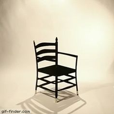 Chair optical illusion - The Hidden Chairs by iBride. Gif Bin is your daily source for funny gifs, reaction gifs and funny animated pictures! Large collection of the best gifs. Brain Tricks, Mind Tricks, Eye Tricks, Magic Tricks, Optical Illusion Gif, Optical Illusions, Awesome Illusions, Magic Illusions, Les Gifs
