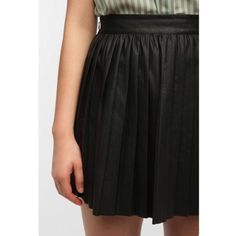 Sparkle & Fade Pleated Vegan Leather Skirt Urban outfitters skirt. Side zip with pleats Urban Outfitters Skirts Mini