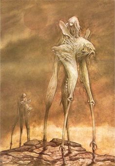 The Dark Crystal. An illustration by Brian Froud Brian Froud, Fantasy Creatures, Mythical Creatures, Fantasy Kunst, Fantasy Art, Dragons, The Dark Crystal, Dark Crystal Movie, Illustration