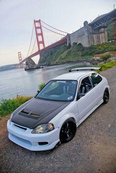 1999 Honda Civic, Honda Civic Coupe, Honda Civic Hatchback, Honda S2000, Tuner Cars, Jdm Cars, Manga Japan, Civic Jdm, Street Racing Cars