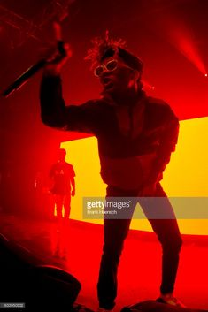 Singer Aaquil Brown aka Slim Jimmy and Khalif Brown aka Swae Lee of the American band Rae Sremmurd perform live during a concert at the Kesselhaus on February 5, 2017 in Berlin, Germany.