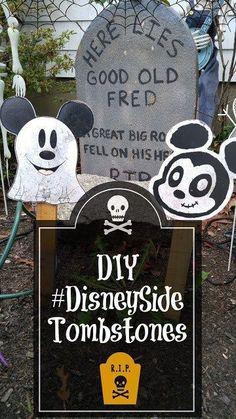 Disney Halloween Decor Disney Halloween Decor Ideas For Disney Tombstones For Your Halloween Display And Several Methods For Making Them For Any Budget And Or Level Of Ability Diy Disneyside Tombstones For Halloween Home Is Where The Mouse Is Halloween Town, Disney Halloween Parties, Disney Halloween Decorations, Haunted Mansion Halloween, Mickey Mouse Halloween, Halloween Displays, Halloween Birthday, Outdoor Halloween, Holidays Halloween