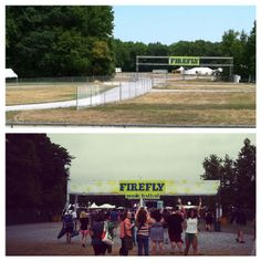 Before & after photo of the Firefly Music Festival