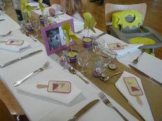 Wedding table deco kids