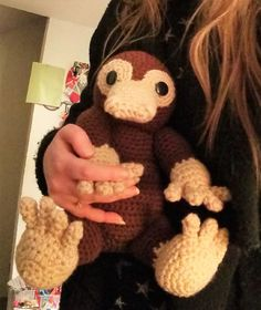 Niffler crochet pattern by Liz Ward.. OH MY SOMEONE PLEASE MAKE THIS FOR ME!!