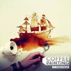 We've got a special workshop curated for you'll tomorrow! Join us for Coffee Essence Workshop with Trisha Patnaik at Vaayu.  The workshop will teach you how coffee can be used to create anything you desire from abstracts graphics landscapes and even figurines.  Fee: Rs 1000 Duration: 2 hours  #Workshop #Coffee #Painting #Art #Artist #VisionCollective #Vaayu #Goa #India