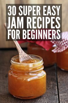 Canning 30 Easy Homemade Jam Recipes You Have to Try - Canning Recipes - Homemade Jam Easy Canning, Canning Recipes, Canning 101, Peach Freezer Jam, Sugar Free Jam, Sugar Free Peach Jam Recipe, Low Sugar, Jelly Recipes, Easy Jam Recipes