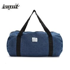 Cheap travel bag women, Buy Quality travel bag directly from China men  travel bags Suppliers  Hot Fashion Men Travel Bag Business Trip Washed  Denim Large ... 605d1930d2