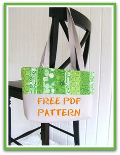 Easy Quilted Tote – PDF Sewing Pattern + Jelly Roll Fabric Info for Beginners