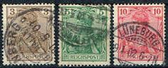 Germany 53 - 55 Stamps - Germania Stamps - EU GER 53 to 55-1 USED