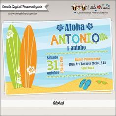 Convite Festa Surf para imprimir