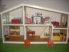 Vintage Lundby Dollhouse Top Floor 5 Room With box.