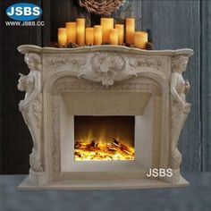 For sale European Fine Marble Fireplace, Marble Fireplace Marble Fireplace Mantel, Marble Fireplaces, Fireplace Surrounds, Fireplace Mantels, Fireplace Stone, Victorian Style Homes, Stone Fountains, Stone Cladding, Stone Veneer