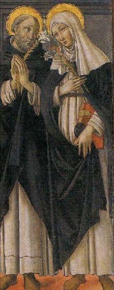 Neri di Bicci e Maestro di Marradi - Madonna con bambino tra santi, (dettaglio); in alto Annunciazione - 1480-1490  - Eremo e chiesa di Lecceto,  Malmantile (Firenze)