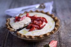 No Bake Vanilla Cream Pie - This is one of my very favourite celebration desserts. It looks and tastes the part and always has people talking about what they reckon is the secret ingredient...
