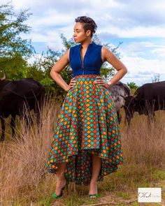 bow Africa fashion, elegant and chic styles - Reny styles African Fashion Skirts, African Dresses For Women, African Print Fashion, Africa Fashion, African Attire, African Wear, African Outfits, African Style, Men Fashion