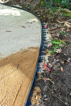 How to lay pavers on pinterest laying pavers paver - How to lay pebbles in garden ...