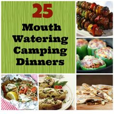 25 Mouth Watering Camping Dinners.  For more information on camping fun for the whole family visit hartranchresort.com. #camping #RV #BlackHills