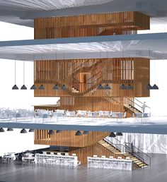 Design concept for stairway. Image: Mecanoo International