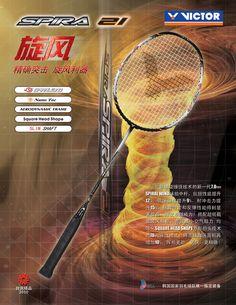 VICTOR Spira 21 ( SP-21 ) Badminton Shop, Badminton Racket, Power Training, Square, 21st, Free Shipping