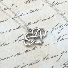 Silver+Infinity+Heart+Necklace+Infinity+by+SterlingSimplicity,+$26.00