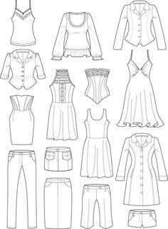 Vestidos casuales para dibujar