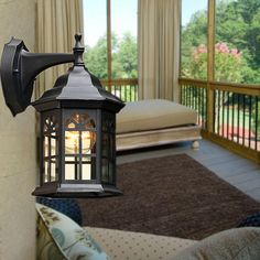 59.99$  Watch now - http://alijvn.shopchina.info/1/go.php?t=32814532521 - European style wall lamps Outdoor light Rural Courtyard balcony living room corridor balcony waterproof  white wall lamps ZA 59.99$ #magazine