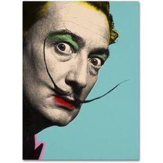 Trademark Fine Art Salvador Dali Canvas Art by Mark Ashkenazi, Size: 18 x 24, Multicolor