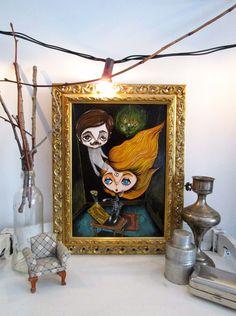 Lost love - Acrylic on wood - 21x29,1 cm - 28,5x37,5 cm (framed)