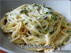 Cukkinis tészta recepttel