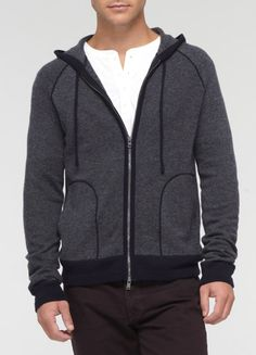 Wool-Cashmere Birdseye Hoodie