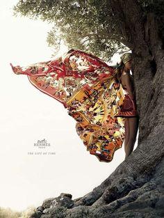 Bette Franke voor Hermès spring/summer 2012 - foto: Nathaniel Goldberg
