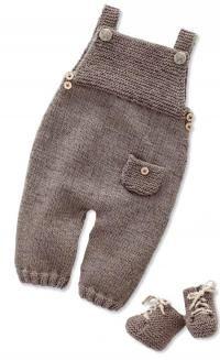 Схема вязание спицами модели и схемы детский полукомбинезон с карманом и пинетками