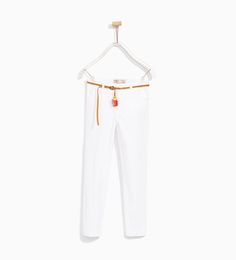 SATEEN TROUSERS WITH BELT-LEGGINGS AND TROUSERS-GIRL | 4-14 years-KIDS | ZARA United States