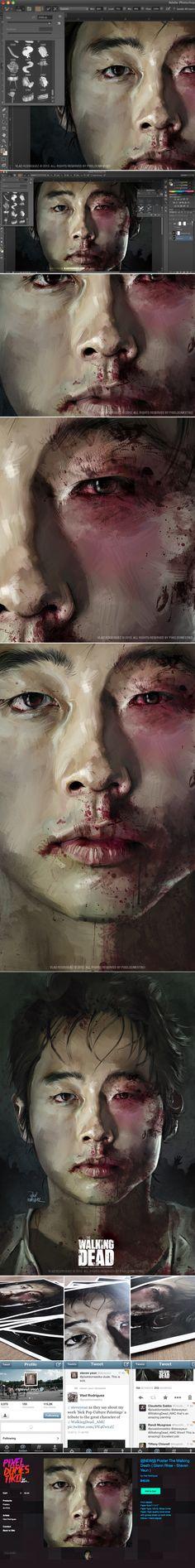 The Walking Dead (Glenn Rhee) by Vlad Rodriguez, via Behance