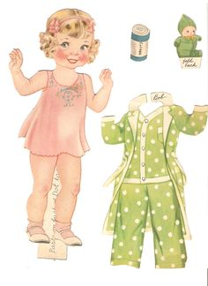 OUR NEW BABY 1937 Publisher: Merrill Artist: Florence Salter  Features Three Paper Dolls: DOT, Bob and Baby Betty Jane | 5 of 19