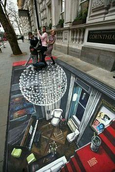3-D street art...                                                                                                                                                     More