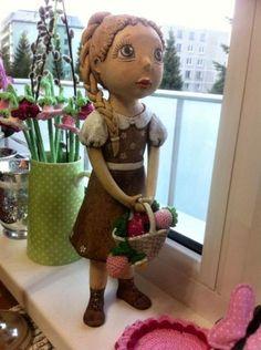 ..manžel ma prekvapil... Paperclay, Ooak Dolls, Paper Mache, Clay Art, Projects To Try, Sculpture, Ceramics, Handmade, Handmade Pottery