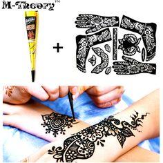 M-Theory Henna + Full Tattoo Stencil Mehndi Black Henna Tattoo Paste Cone Temporary Flash Tattoo Body Art Paint Wedding Product Stencils Tatuagem, Henna Tattoo Stencils, Tattoo Fonts, Henna Mehndi, Hena, Henna Paint, Flash Tattoo, Full Tattoo, Tatoo