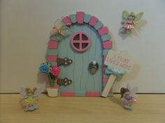 Another great little Fairy Door. Hand painted wooden door perfect gift for any little girls available to purchase from https://www.facebook.com/elegantfancies