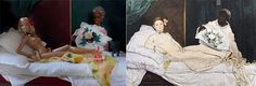 Barbie as Manet's Olympia