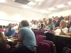PGCE trainees in discussion - what makes a brilliant, outstanding, creative teacher?