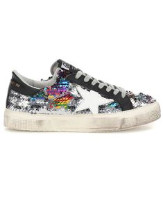 a62c0b808158a7 GOLDEN GOOSE May Classic sequinned sneakers