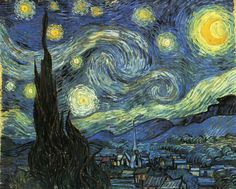 The Starry Night by Vincent van Gogh #art